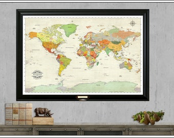 Push pin travel map etsy push pin travel map anniversary travel map wedding map framed 24x36 foam board gumiabroncs Image collections
