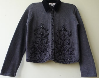 Ladies sequined cardigan steampunk Victorian size M occasional party