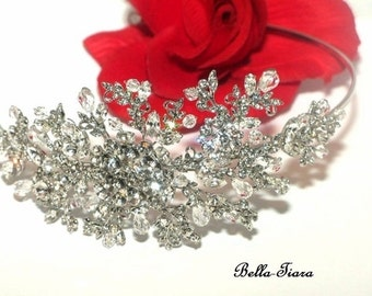 wedding headband, crystal headband, crystal side headband, wedding headpiece, bridal headband, crystal headband