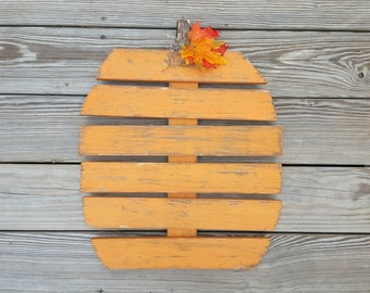 Rustic Wooden Pumpkin, Distressed Pumpkin, Fall Decor, Thanksgiving decor, Pallet Pumpkin, Pumpkin Decor, Painted Pumpkin, Front Porch Decor