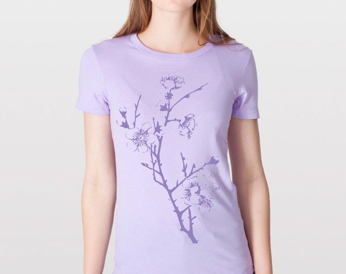 KillerBeeMoto: American Apparel 2102 Womens - Japanese Plumb Branches With Blossoms