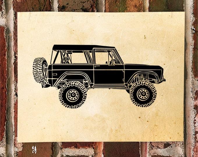 KillerBeeMoto: Limited Print Vintage 4 Wheel Drive Truck Print Print 1 of 100