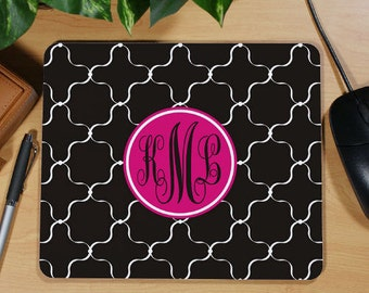 Monogrammed Mouse Pad, Personalized Mouse Pad