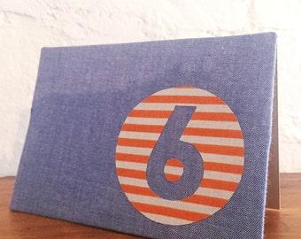 Handmade fabric greeting card - 6th birthday
