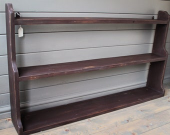 Antique Pine Painted Open Back Shelving Unit, rustic, shabby chic, kitchen shelving