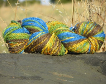 Handspun & Painted Merino Wool Yarn, Super Bulky Weight, Hike in the  Hills, 5 oz., 140 g., 160 yards, Soft