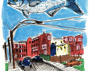 Fishtown, Philadelphia Illustrated, Limited Edition Print