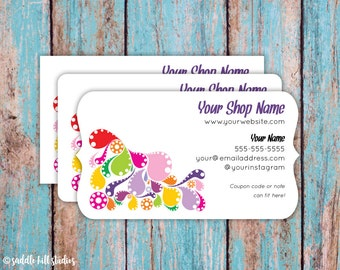 Business Cards - Custom Business Cards - Personalized Business Cards - Mommy Calling Cards - Splash of Color - P0108-7