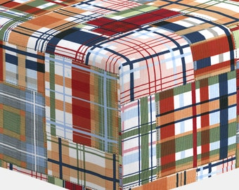 Baby Girl Crib Bedding: Patchwork Plaid Crib Sheet by Carousel Designs