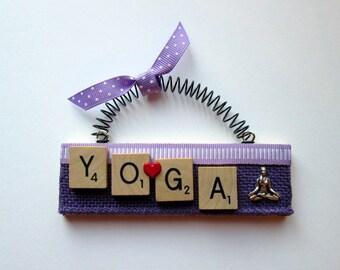 Love Yoga Scrabble Tile Ornament