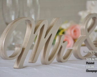 champagne mr and mrs, mr and mrs sign, mr and mrs wall decor, mr and mrs table sign, mr and mrs wedding gift