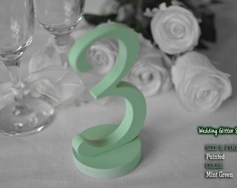 SET 1/35, Mint Green Table Numbers for Wedding, Mint Green Wooden Table Numbers, Mint Green Wedding Decorations, Mint Green Wedding