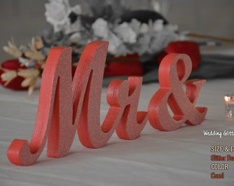 Mr and Mrs Coral Signs, Mr. and Mrs. Wall Décor, Mr. and Mrs. Wood, Mr and Mrs For Sweetheart, Rustic Wooden Signs For Wedding