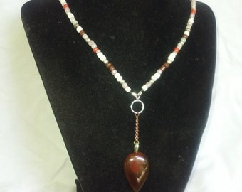Fancey Jasper Tear Drop Necklace