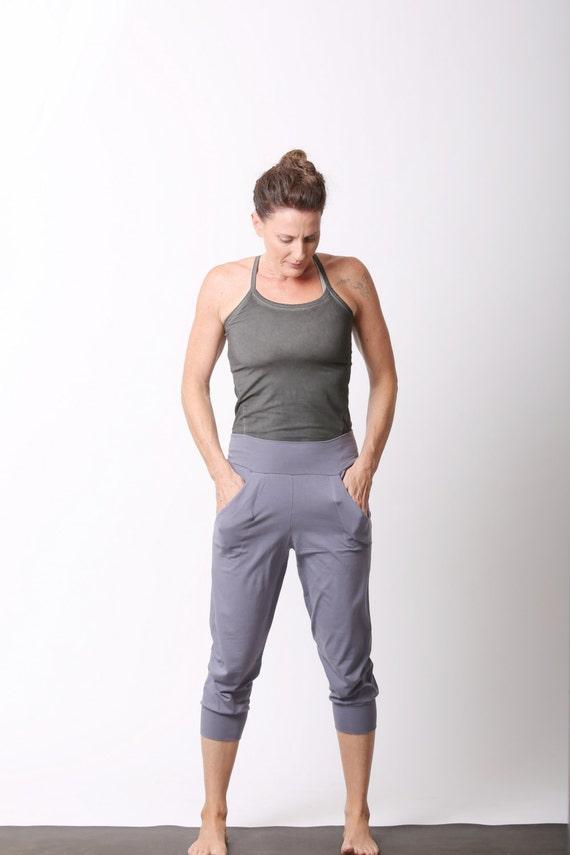 Items similar to Slouchy Capri Yoga Pants