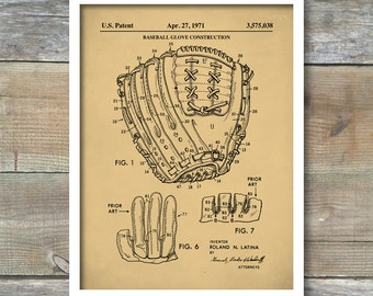 Baseball Glove, Patent Prints, Baseball Gifts, Baseball Patent, Baseball Art, Baseball Decor, Parent Poster, Vintage Baseball Decor, P389