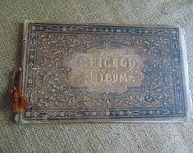 Album Chicago,16 pages.Original antique Victorian intaglio photo-illustration for framing