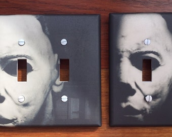 Michael Myers Light Switch Plate Cover // Halloween decor // SAME DAY SHIPPING**