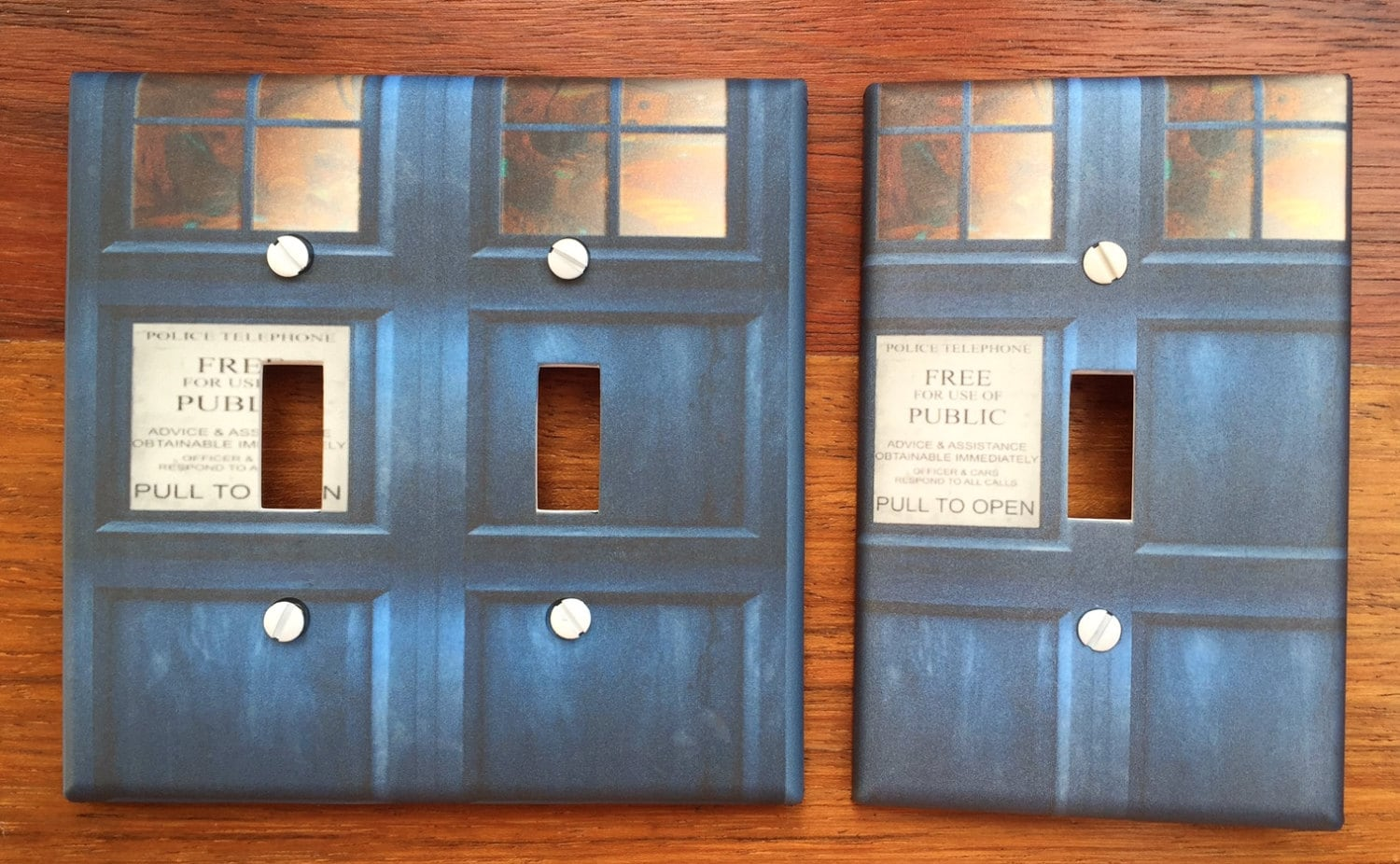 Doctor who light switch cover whovian tardis door dwas fandom for Tardis light switch cover