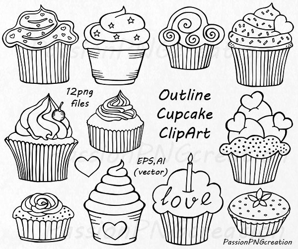 Cupcake Hand Embroidery Design Free