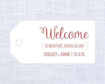 Large Wedding Welcome Gift Tags / Favor Tags / Thank You Gift Tags / #1003