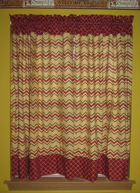 Home decorating curtains / contrasting but matching / 4 prints available