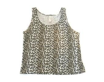 SUMMER SALE Vintage Leopard Crop Top