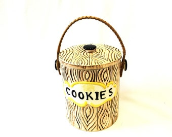 Faux Bois Cookie Jar