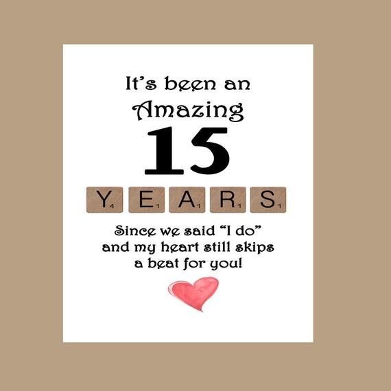 Crystal Gift Ideas 15th Wedding Anniversary: 15th Wedding Anniversary Card Fifteen Wedding Anniversary