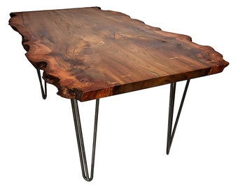 Live Edge Dining Table on Hairpin Legs