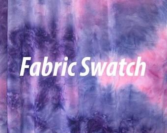 Fabric Swatch - Stretch Fabric, Tie Dye Print Fabric Plum Daze Four way Stretch Spandex Fabric Item # RXPN-TDT21-SWATCH