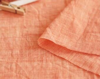 Gauze Fabric Salmon Orange By The Yard