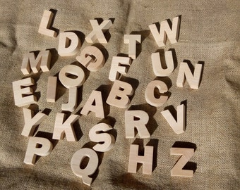 English Alphabet Without Magnets Wooden alphabet Wooden letters Wood Alphabet Set Wooden letters for nursery Set of letters