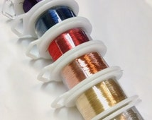 Copper Wire, 32 gauge. Silver, Gold and dyed colored wire for knitting, tatting, bobbin lace.