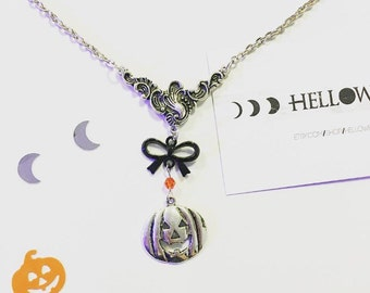Hallows eve pumpkin necklace