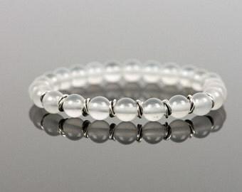 Milky Quartz Bracelet, Natural Gemstone Bracelet, White Bracelet, Handmade Jewelry, Gemstone Bracelet, Handmade Jewelry, Gemstone Jewelry