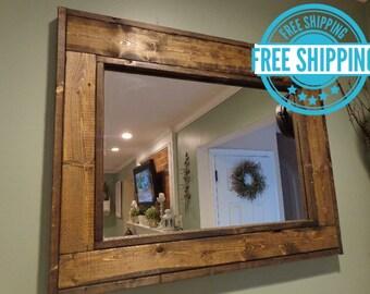 30 x 36 mirror etsy. Black Bedroom Furniture Sets. Home Design Ideas