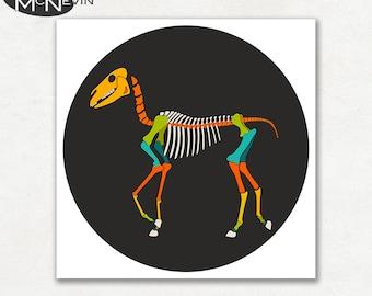 HORSE SKELETON, Modern Pop Art, Photographic Animal Print