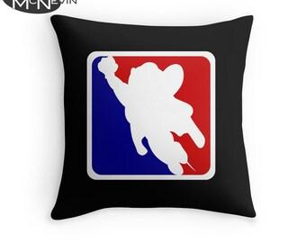 MIGHTY MOUSE Sports Logo Throw Pillow, Home Decor Geek Art