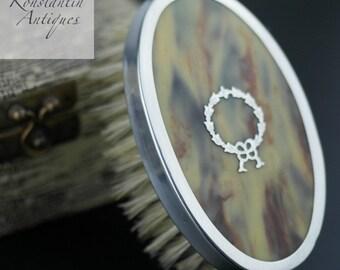 Antique sterling silver Brown Marble Birmingham 1927 DMC box British Empire gift