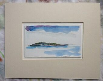 Far Island - Original Art - Maine Landscape - Olivia Atherton