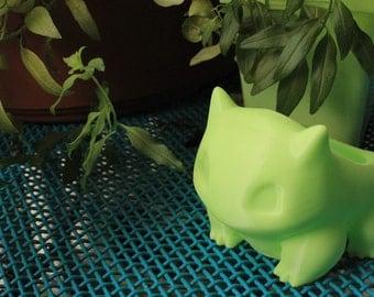 "Bulbasaur Planter 3d-printed in eco-friendly PLA plastic - 3"" size"