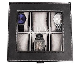 Personalized Men's Leatherette Watch Box