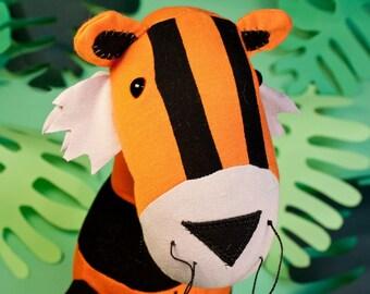 Tiger plushie pattern