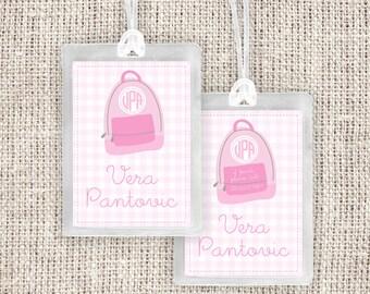 Backpack Luggage Tag - Bag Tag Pink