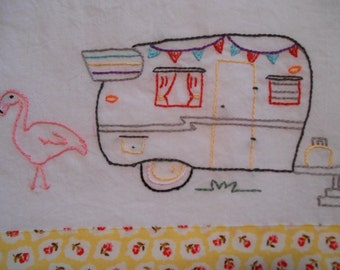 Vintage Shasta Trailer PDF Hand Embroidery Pattern--Instant Download