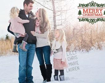Custom Family Christmas Card