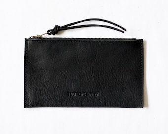 ZIP WALLET Onyx Black • Oil Tanned Leather Case