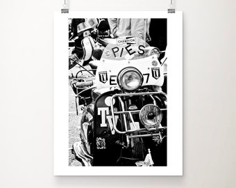 Black and white photography, scooter photograph, black & white print, still life photography, retro art - Scooter Run
