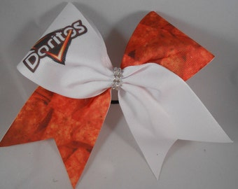 Cheer Bow Doritos with Rhinestone center